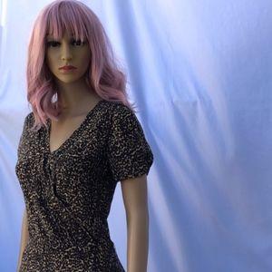 The Kooples Leopard Print Silk Dress